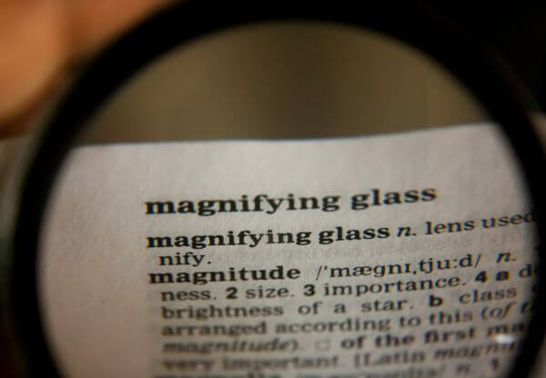 Magnifying Glass Word photo