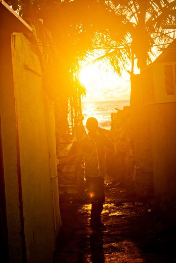 Man Standing Sun photo