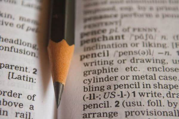 Pencil Dictionary Word photo