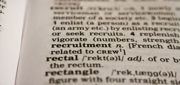 Recruitment Word Dictionary photo