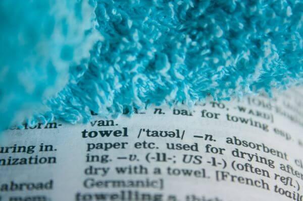 Towel Dictionary Word photo