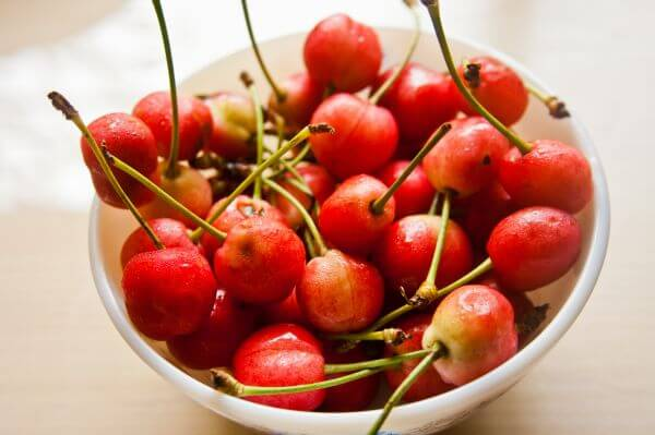 Bowl Of Cherry Fruit photo