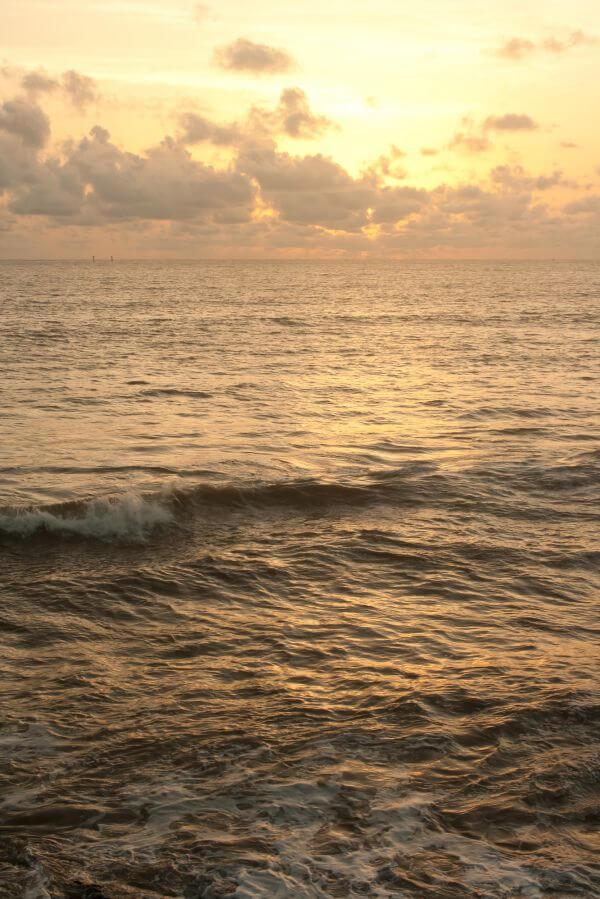 Sea Waves Sunset photo