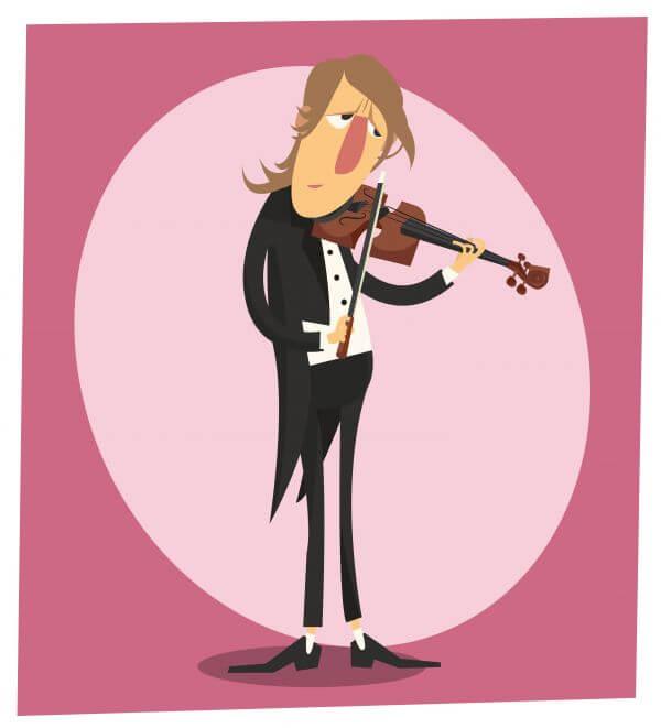 Music cartoon character vector illustration for design vector