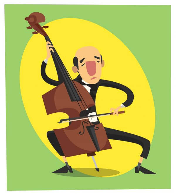Music cartoon character vector illustration for design vector