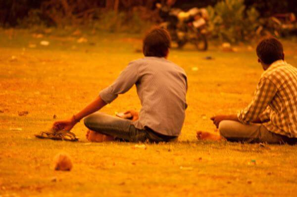 Friends Sitting Talking photo