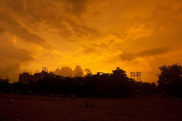 Golden Sunset Sky photo
