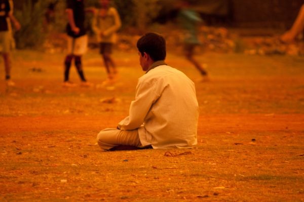 Man Sitting Thinking photo