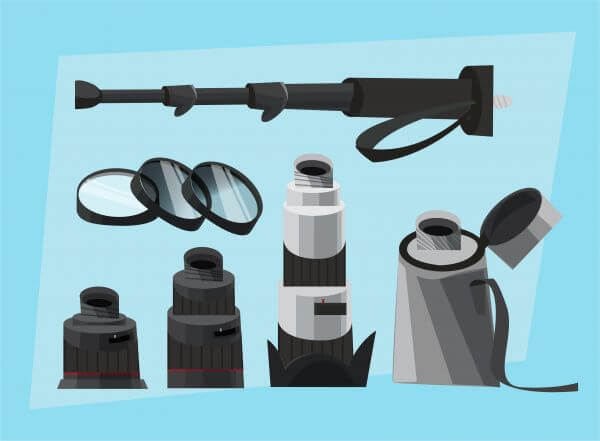 Photographer equipment at work. Vector illustration vector