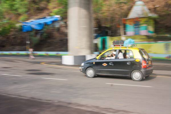 Taxi Black White Mumbai photo