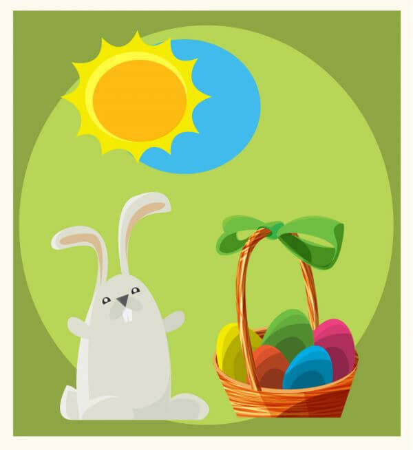 Easter vector objects illustration
