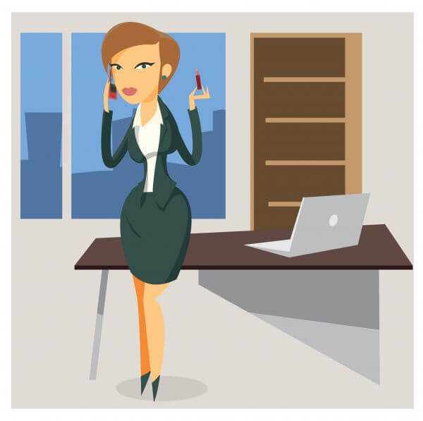 Business woman objects vector illustration for design vector