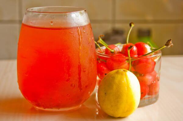 Cherries Juice Lemon photo
