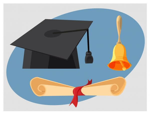 Education objects vector illustration for design