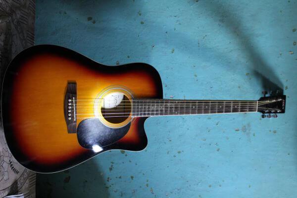 Guitar Blue Wall photo