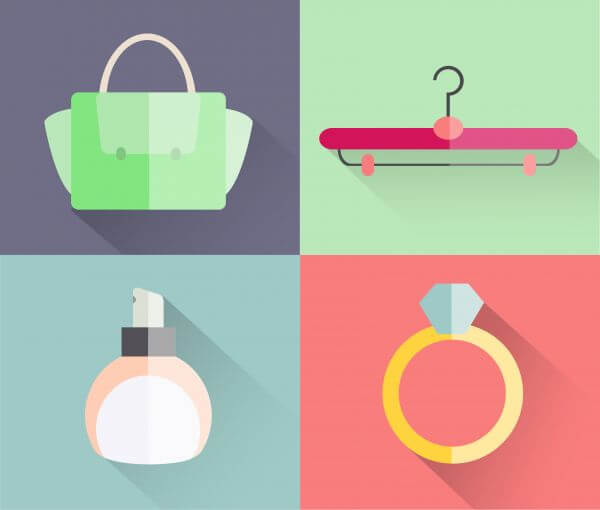 Beauty fashion objects vector illustration for design