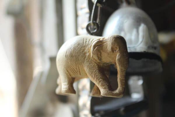 Hanging Decoration Elephant Stone photo