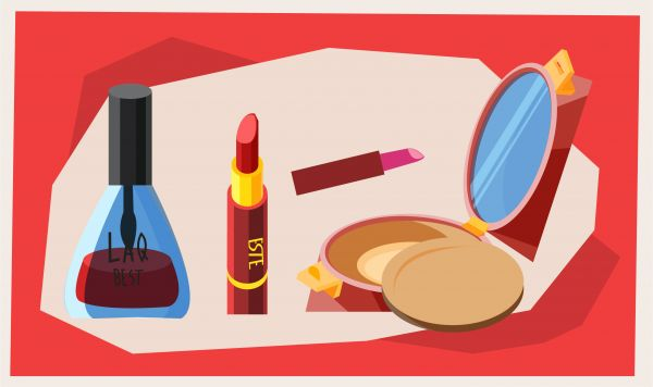 Beauty fashion objects vector illustration for design vector