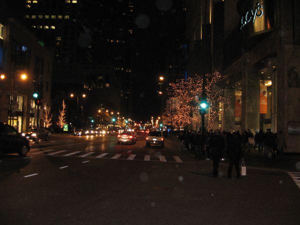 Chicago Night Christmas Lights photo