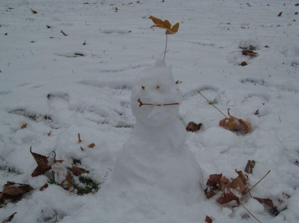 Snowman Winter Snow photo