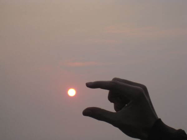 Sun Within Fingers Hands photo