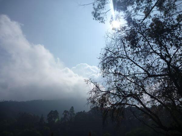 Hills Clouds Blue Sky photo