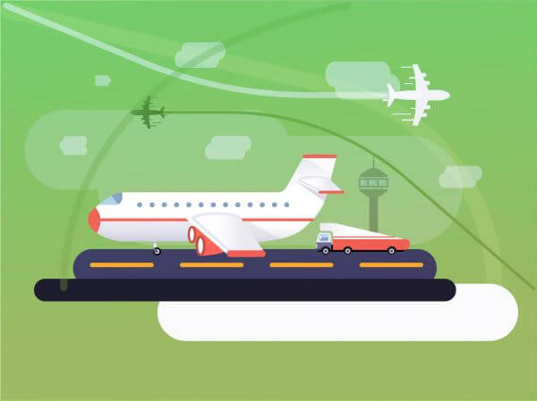 Transport objects vector illustration for design vector