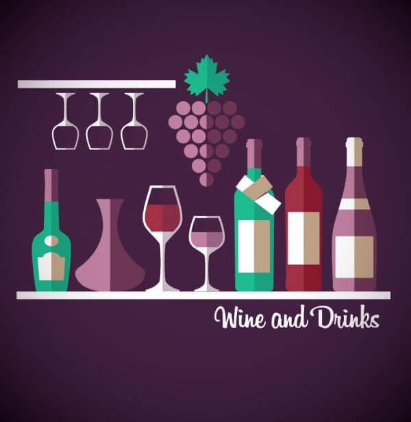 Wine abstract illustration. Flat style. vector