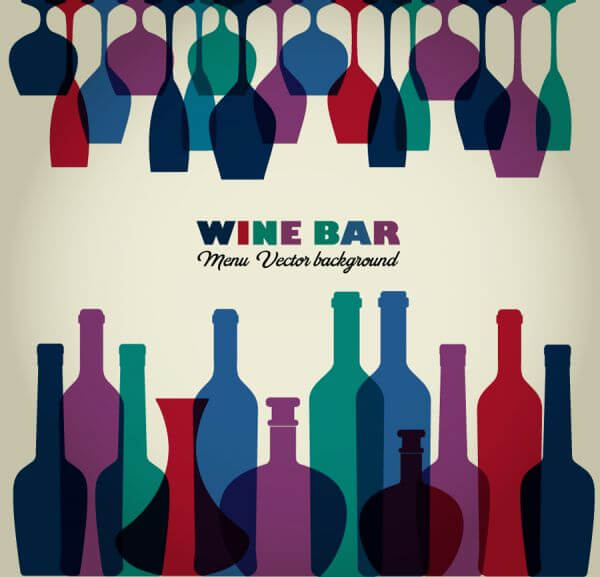 Wine abstract illustration vector