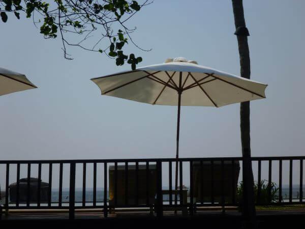 Umbrella Chairs Lounge Sea photo
