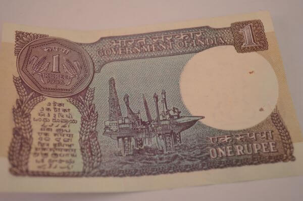 One Rupee Note India photo
