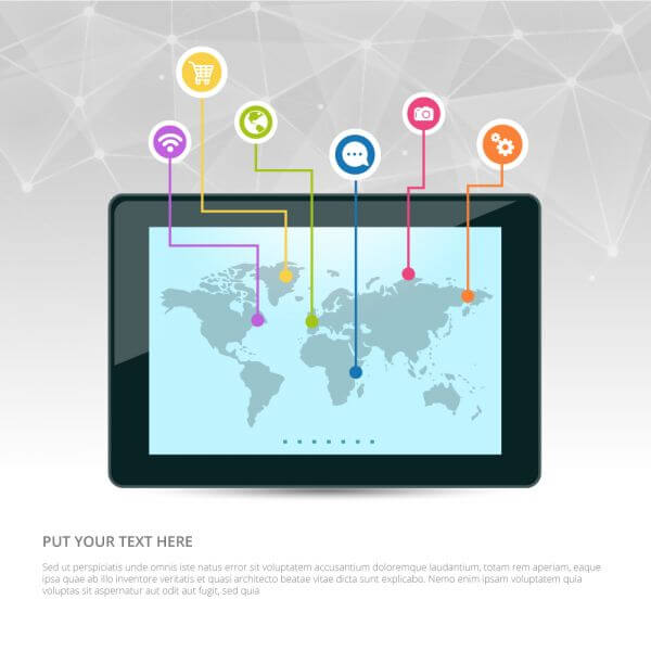 Internet marketing vector design vector