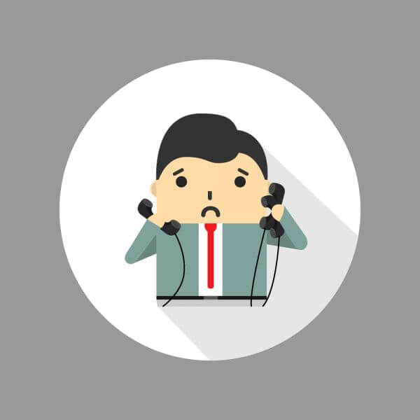 Businessman looking tired and overwhelmed vector