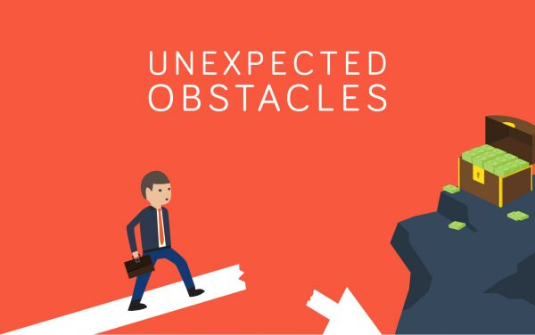 Unexpected Obstacles vector