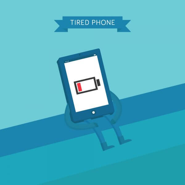 Tired Phone vector
