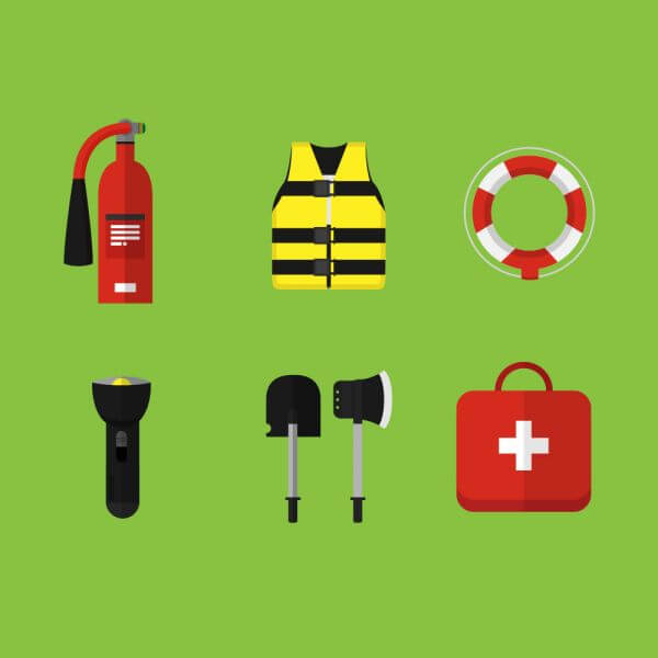 Emergency and first aid icons vector