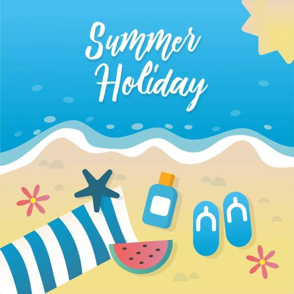 Summer holiday greeting card design vector