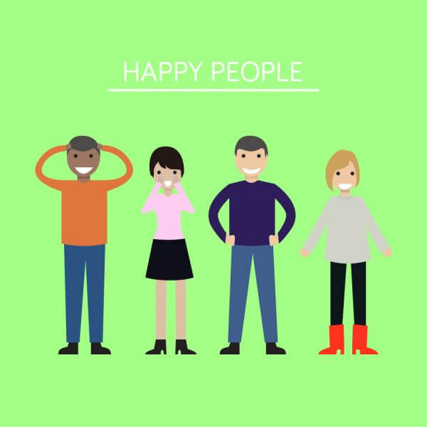Group of people looking happy and smiling vector