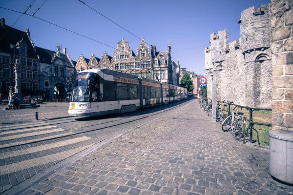 Tram in Ghent photo