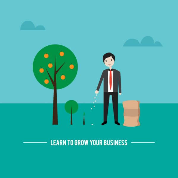 Businessman planting new business vector