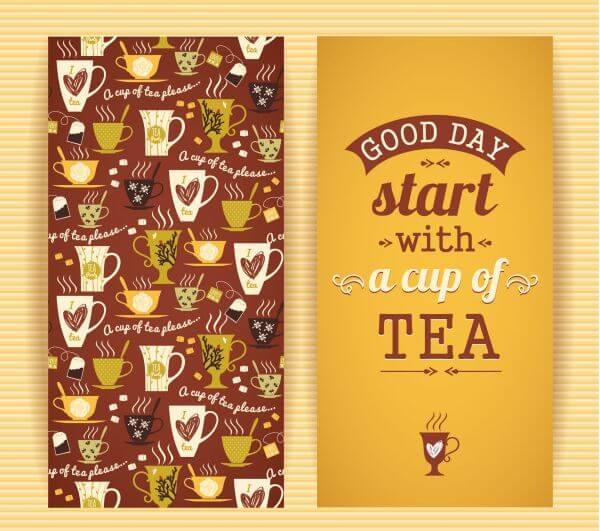Tea concept design.  vector