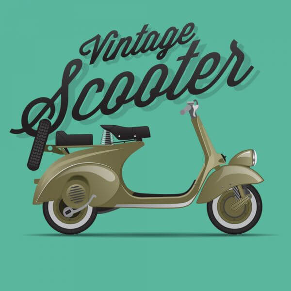 Scooter Illustration vector