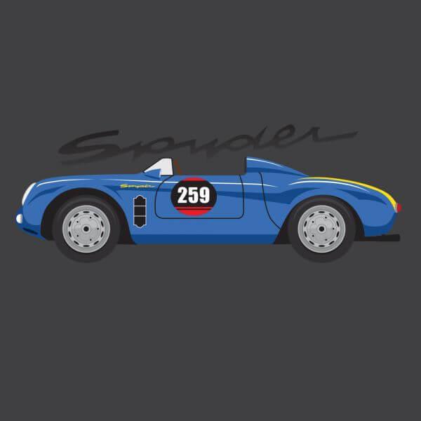 Porsche Spyder vector