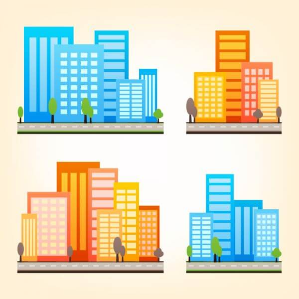 City Vector Set vector
