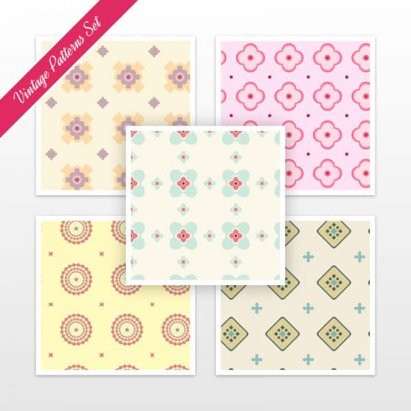 Vintage Pattern Set vector