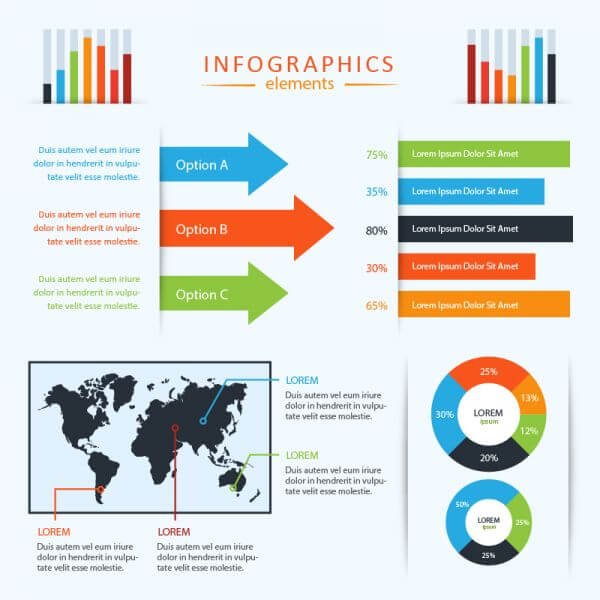 Vector Infographics Set vector