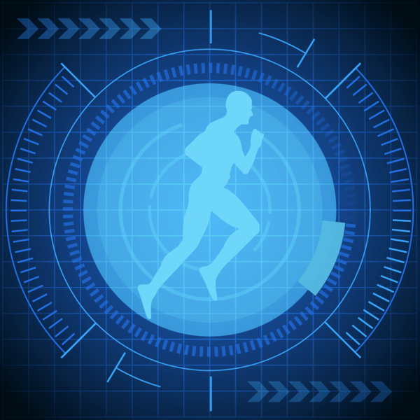Vector illustration futuristic runner  vector