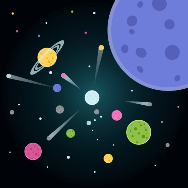 Vector illustration Planets vector