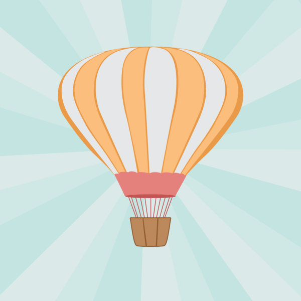 Vector illustration Air balloon vector