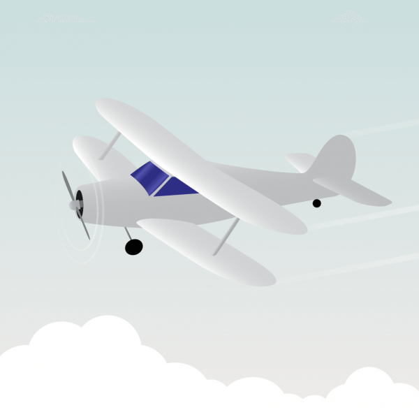 Vector illustration White airplane vector